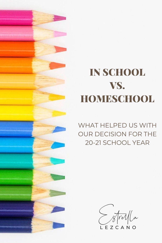 In School vs. Homeschool in 2020 | Homeschool, Virtual ...