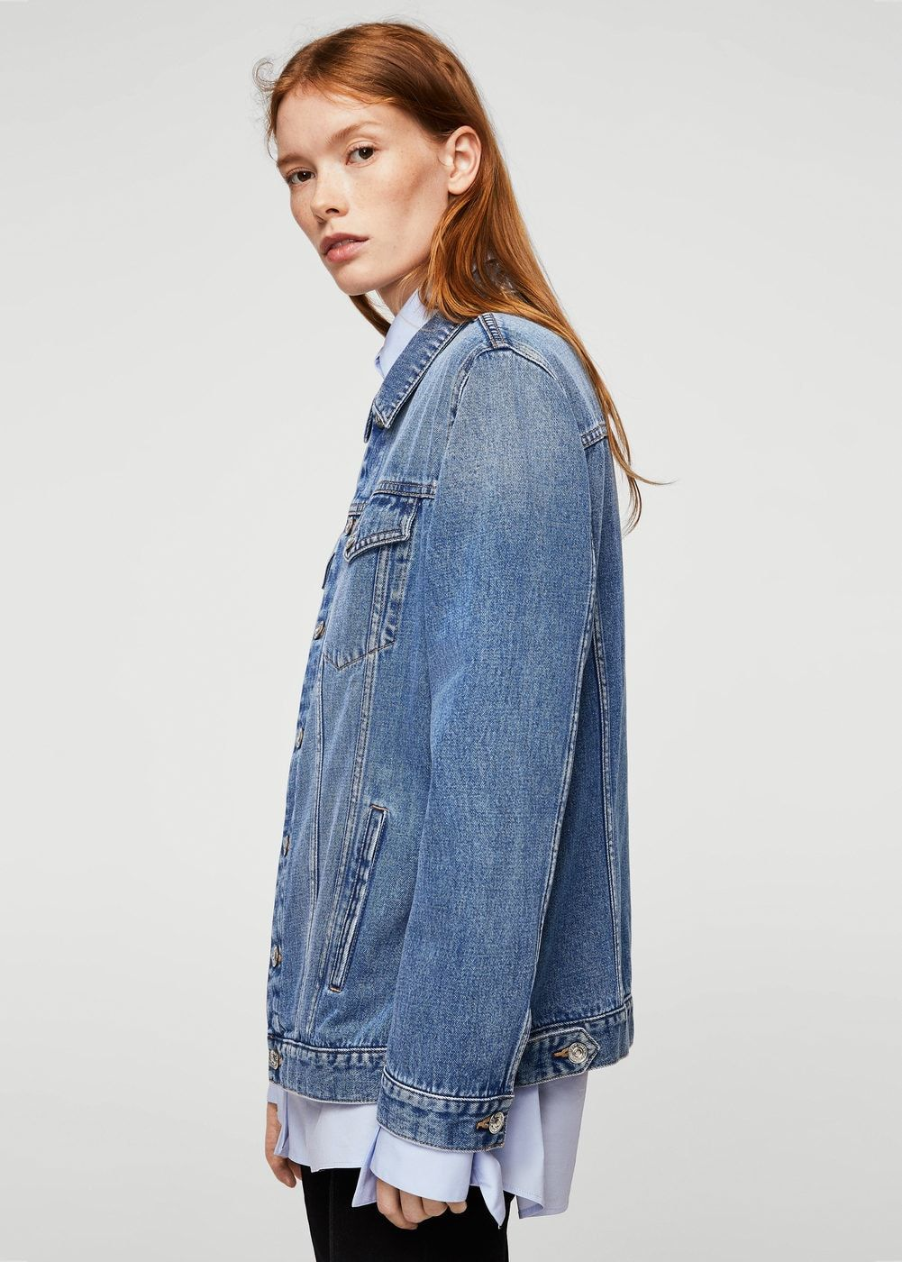 Medium wash denim jacket - Woman | MANGO United Kingdom