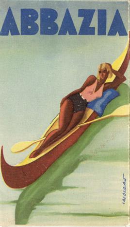 By Casolaso?, 1936, travel brochure, Abbazia.