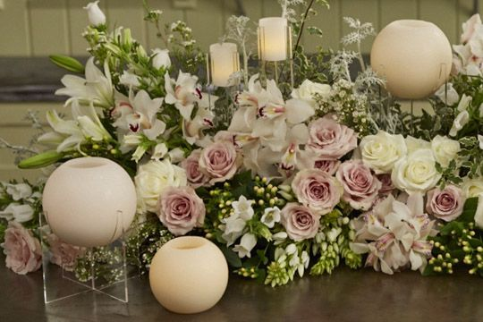 Image result for table decorations with flowers and candles