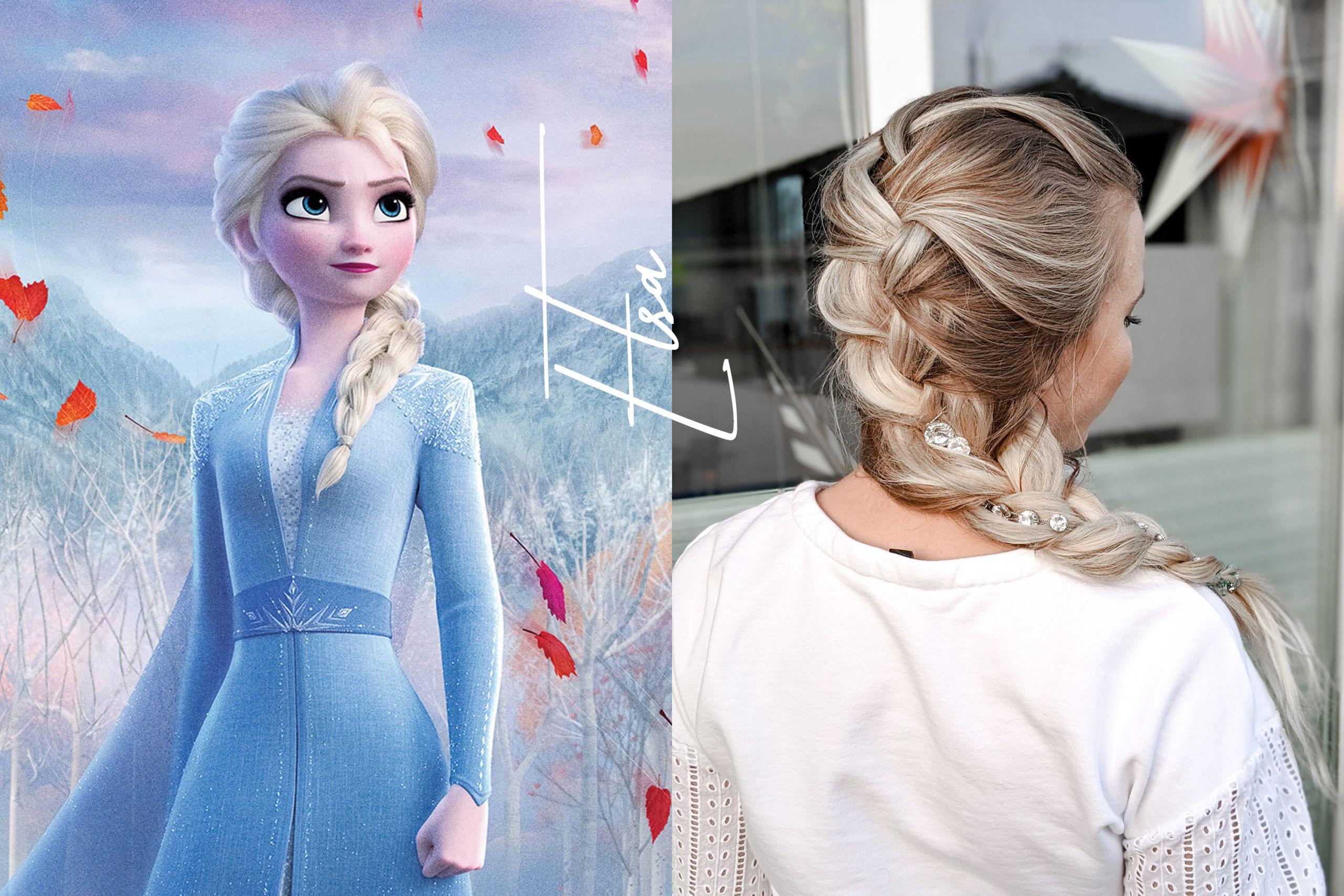 10 Schritte Frisuren Anleitung Der Originale Elsa Zopf Aus Die Eiskonigin 2 Braids Life Elsa Zopf Flechten Zopfe Disney Frisuren