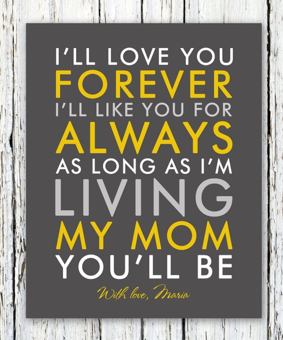 """Any Name A4 or 8/""""x10/"""" Personalised Mother/'s day Name Print Love is forever"""