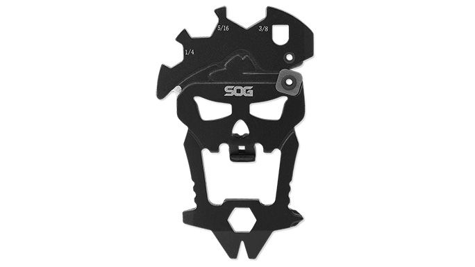 The all new MacV Tool from SOG Knives features a pry bar, bottle opener, and small flathead driver, among many other components.