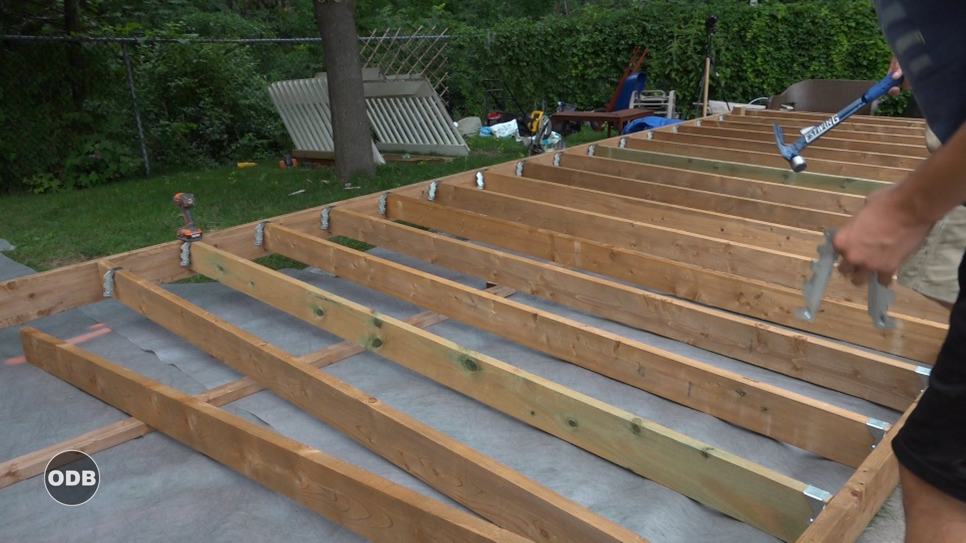 How To Build A Deck Part 3 Ground Level Deck Youtube How To Level Ground Ground Level Deck Ground Level Deck Plans