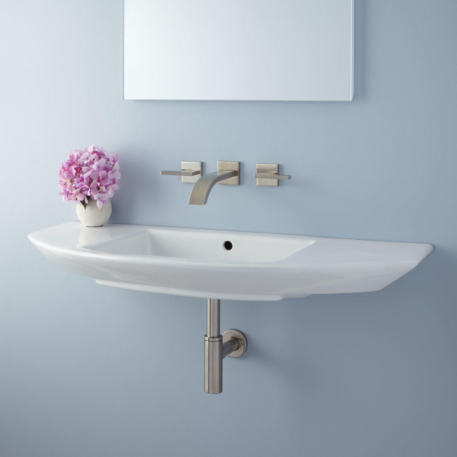 Evelin Porcelain Wall-Mount Sink in 2018 | S M A L L S P A C E S ...