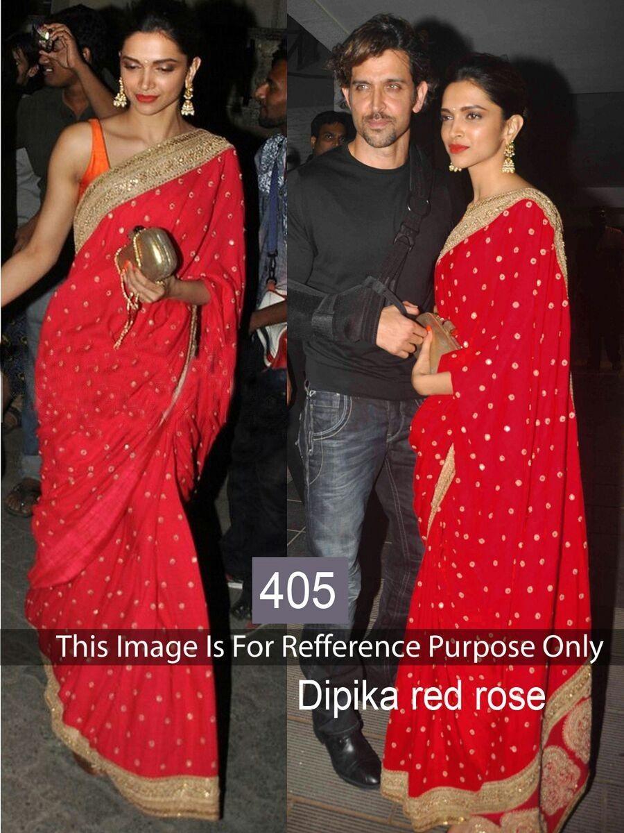 Deepika Padukone Red Saree Online Shopping - Deepika ...