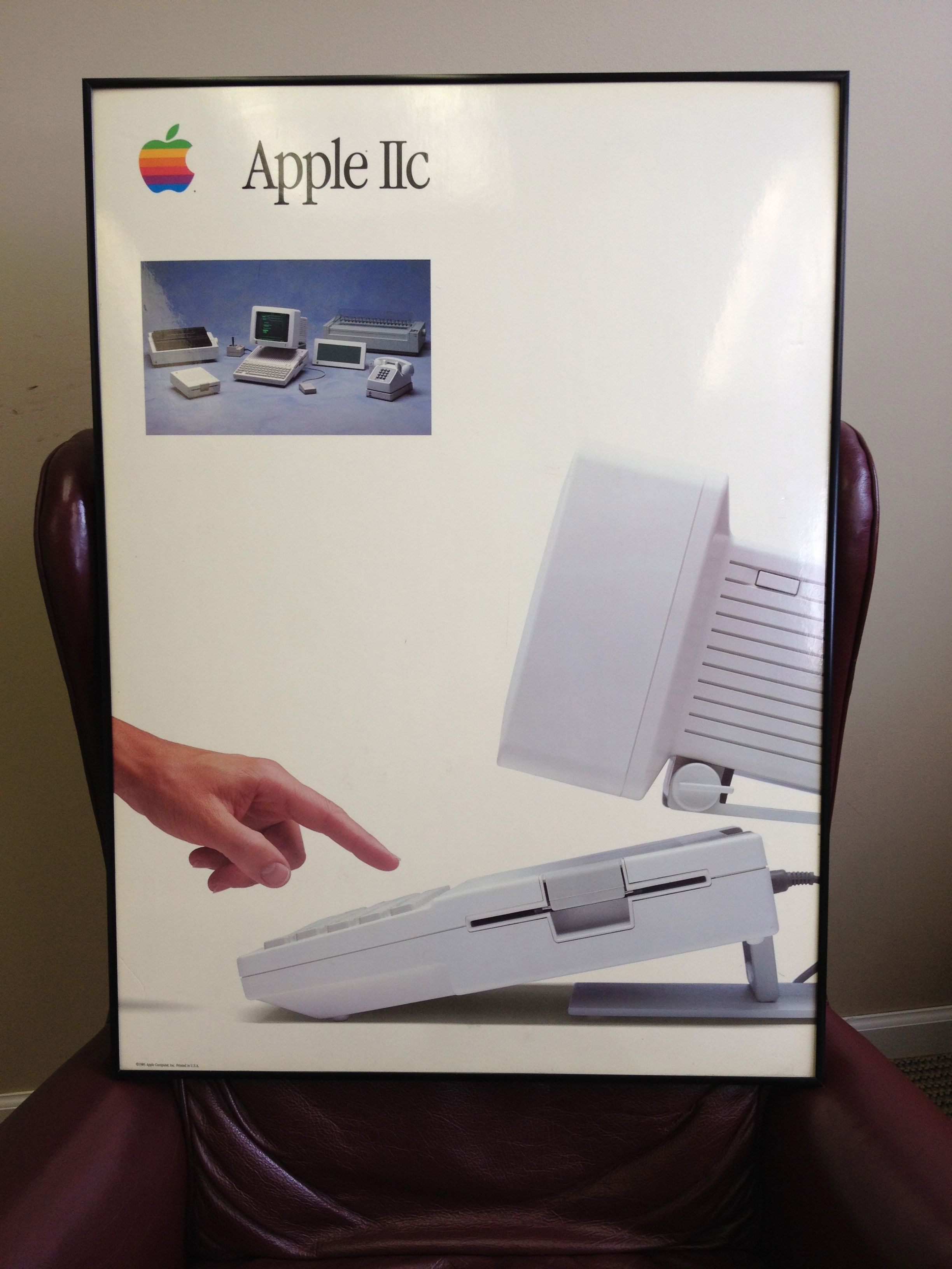 Large Original Apple Iic Promotional Poster 1984 Lesson Everyone