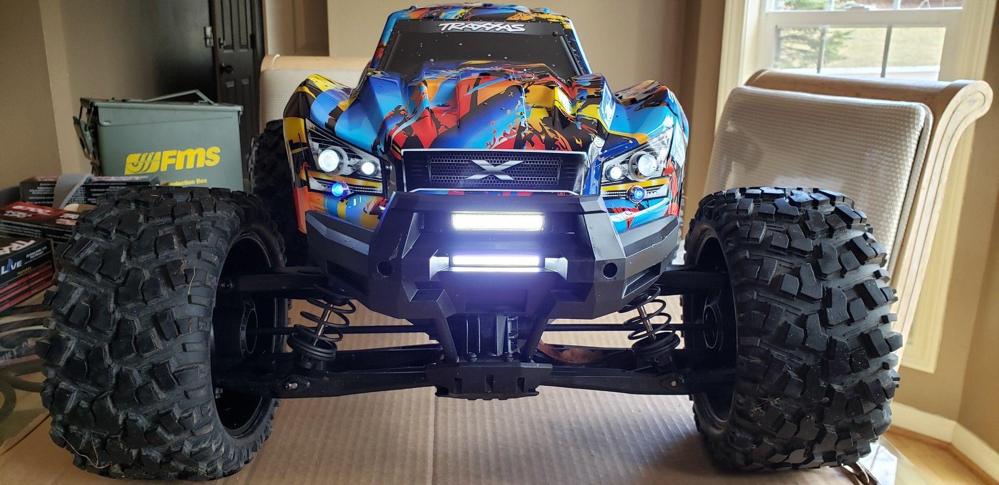 Traxxas Xmaxx 8s with murat rc bumper dual light bar and