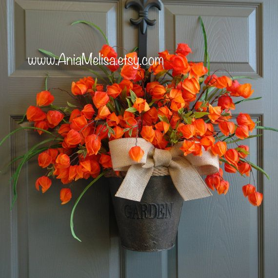 Summer Wreath Fall Wreaths For Front Door Decorations Thanksgiving Outdoor Birthday Gift