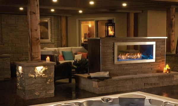 Napoleon Galaxy Gss48st See Thru Outdoor Linear Gas Fireplace Dave