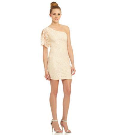 B Darlin One Shoulder Lace Dress Dillards Loooovveee It