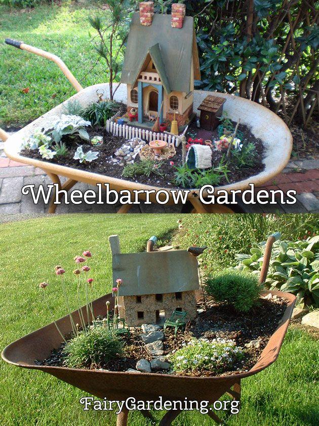 proyectos jardines en miniatura jardines de hadas hbitos carretilla de jardn casas de hadas accesorios