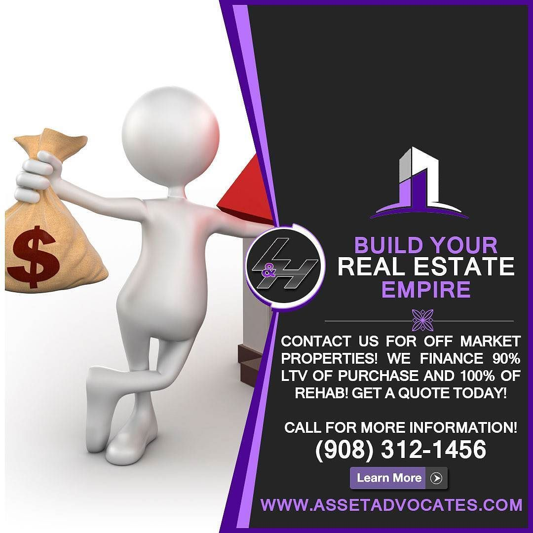 Call Today to Buy Off Market Properties. (973) 2000223