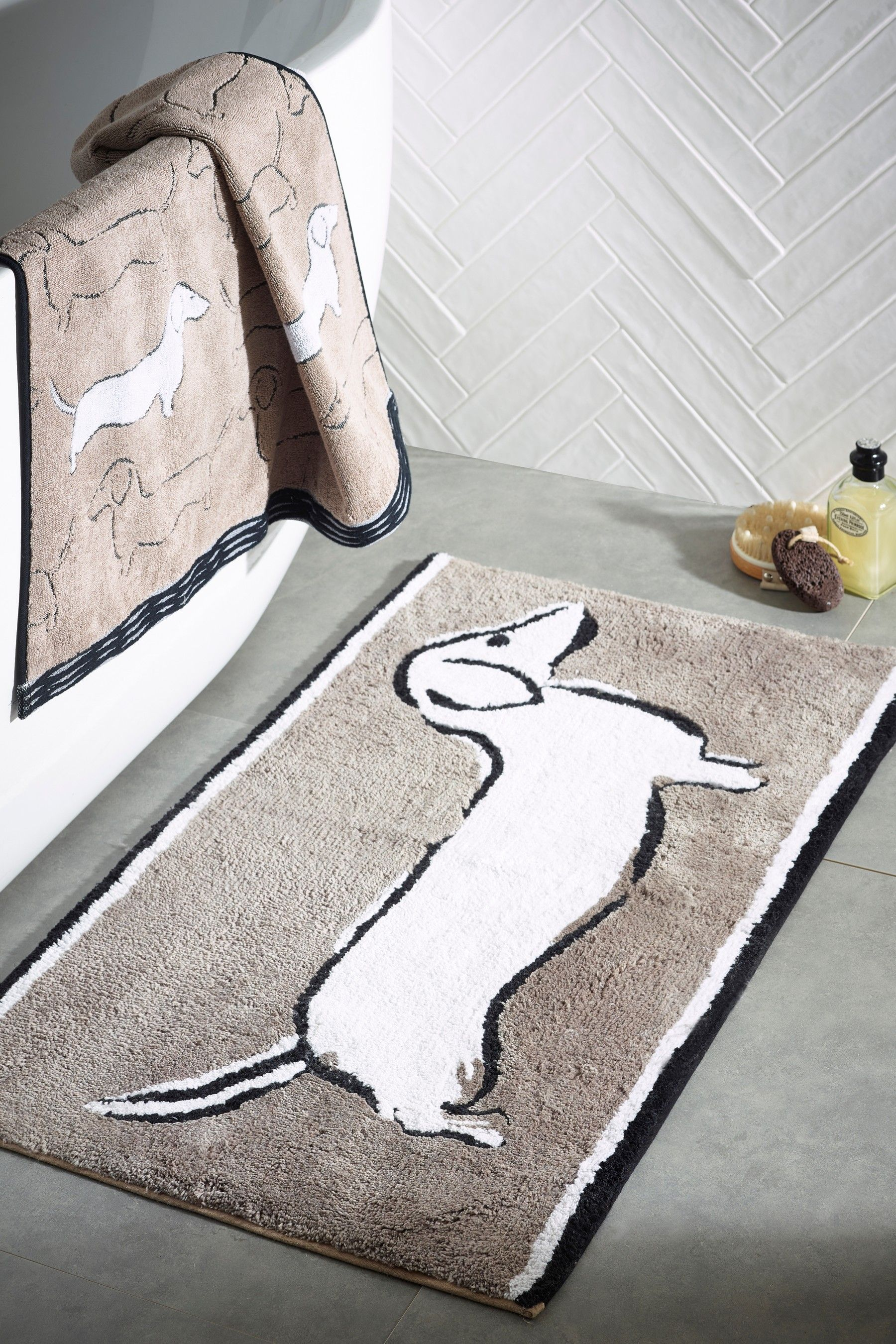 Next Sausage Dog Bath Mat Mink Bath Mat Bath Laundry Hamper