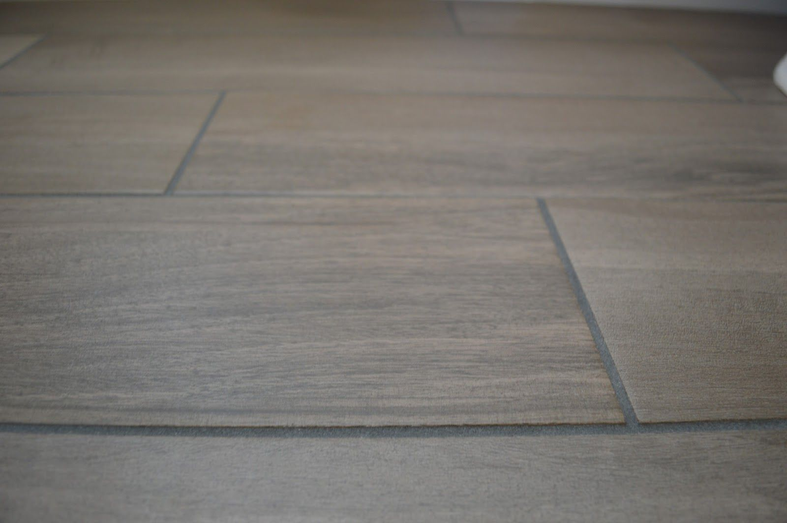 When Your Tile Grout Turns White This May Work Bathroom Progress Grey Wood Tile Floor Grout Grey Flooring