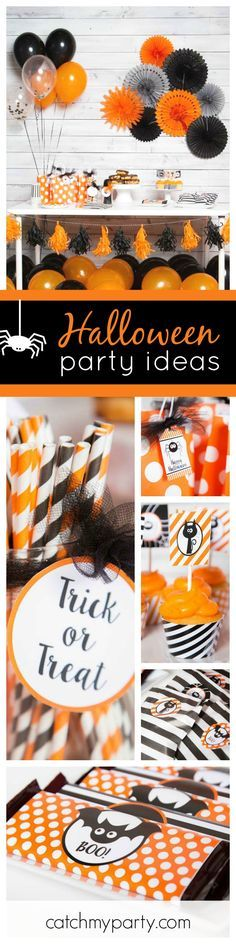 check out this fun and simple not scary halloween party the orange black decorations - Non Scary Halloween Decorations