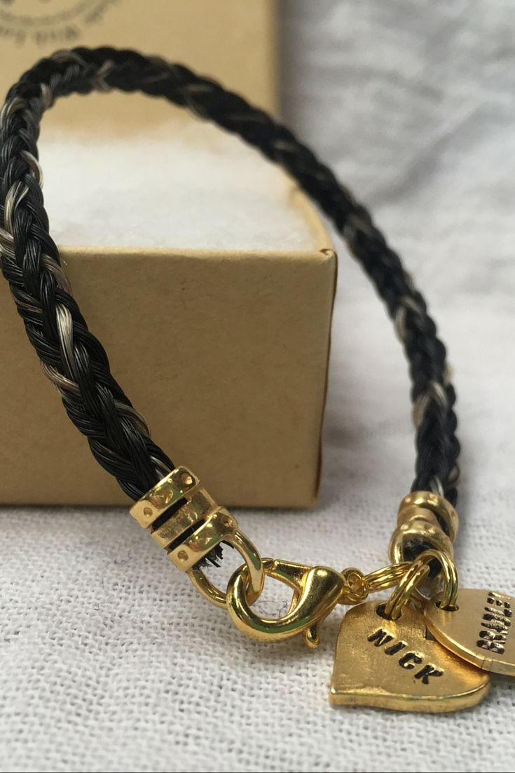 Keepsake horse hair made into jewelry much better than having it this beautiful horse hair bracelet was custom made for one of my customers with their horses solutioingenieria Choice Image