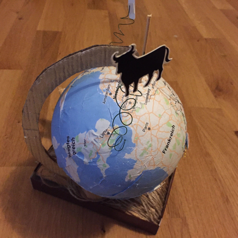 Reisegutschein barcelona verschenken verpacken - Weltkarte basteln ...
