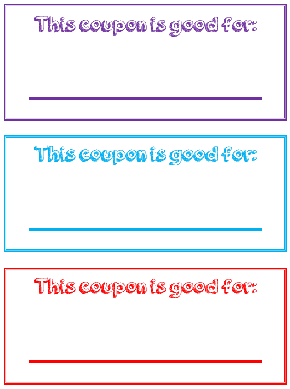 Use These Free Printable Reward Coupons For Kids To Positively Reinforce Good Behavior Your Kids Will Love T Printable Coupon Book Reward Coupons Kids Rewards