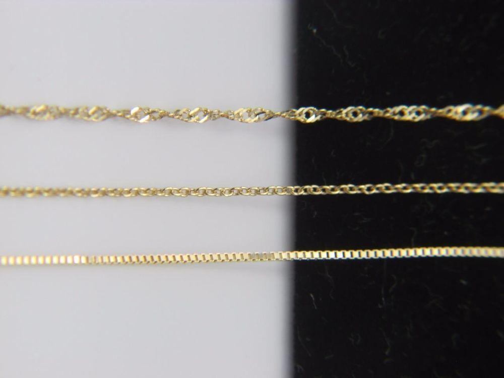 Solid 10k Yellow Gold Chain Necklace Box Chain Rope Chain Cable Chain 10kt Gold Gold Chain Choker Gold Chain Necklace Yellow Gold Chain