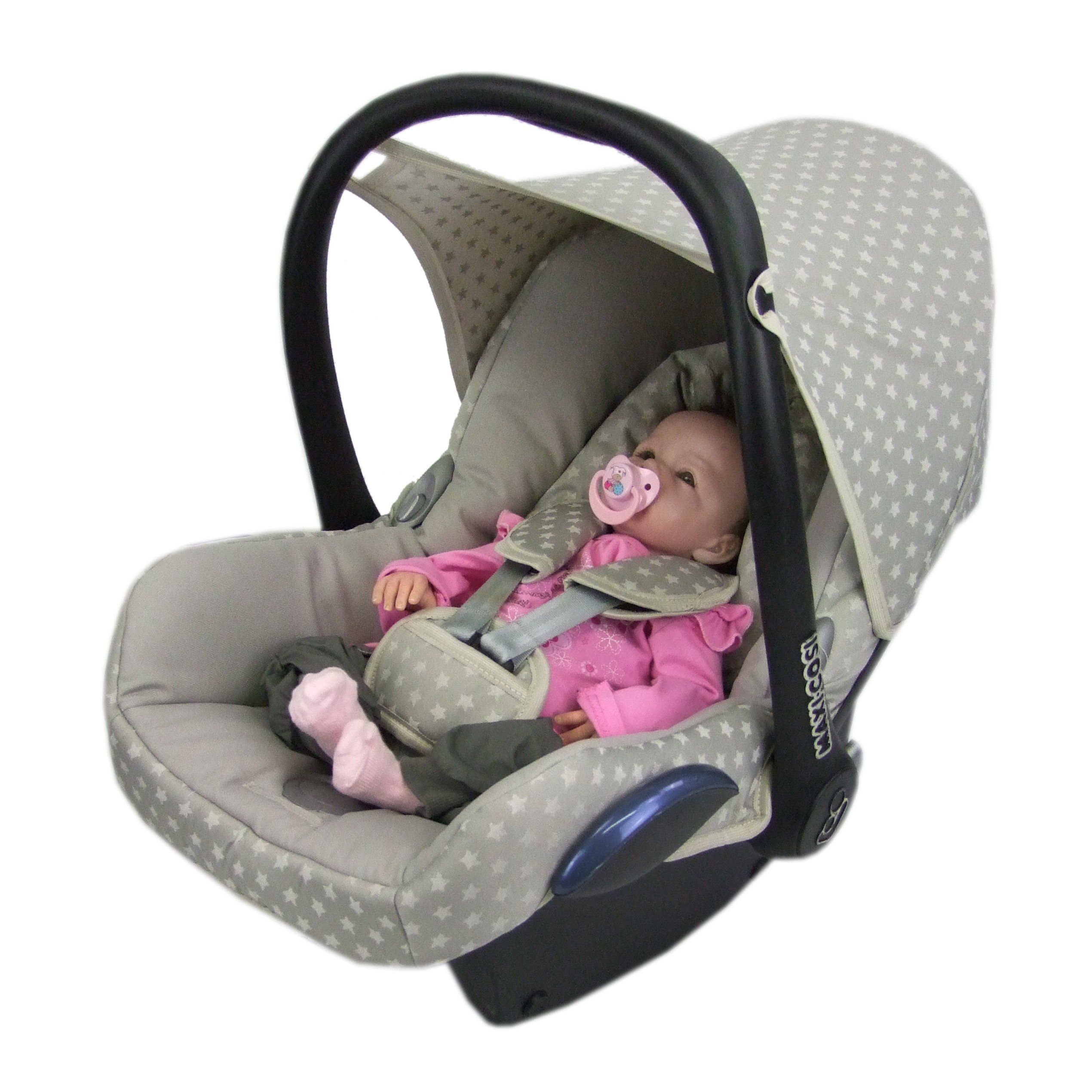 Bambiniwelt Ersatzbezug F R Maxi Cosi Cabriofix 6 Tlg Bezug F R Babyschale Komplett Set Sterne Beige Neu In 2020 Baby Car Seats Car Seats Baby Car