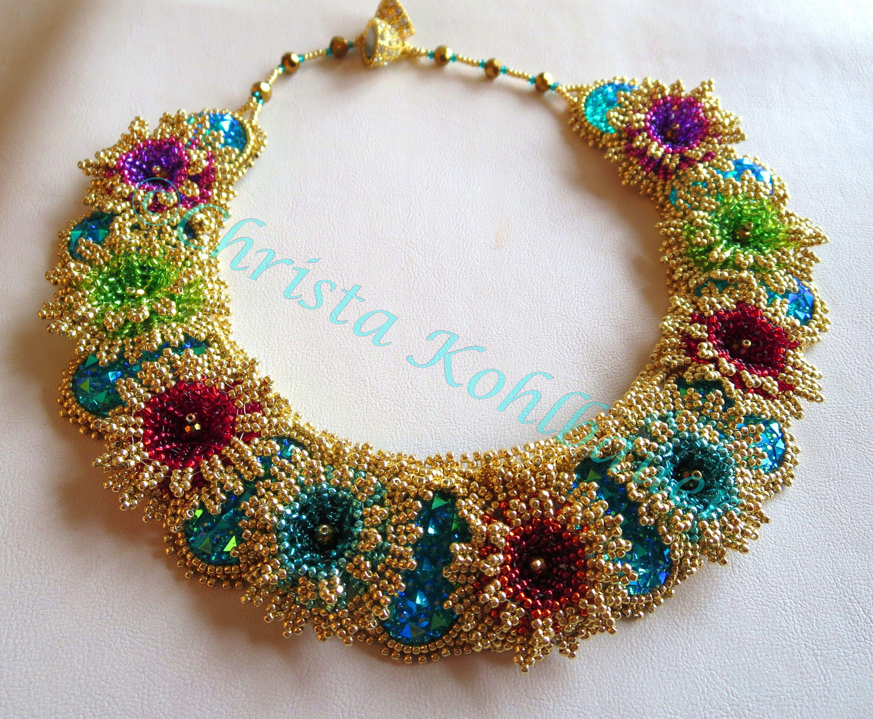 Christa kohlbauer my beadwork schmuck perlenkette und kette - Perlenarmband basteln ...