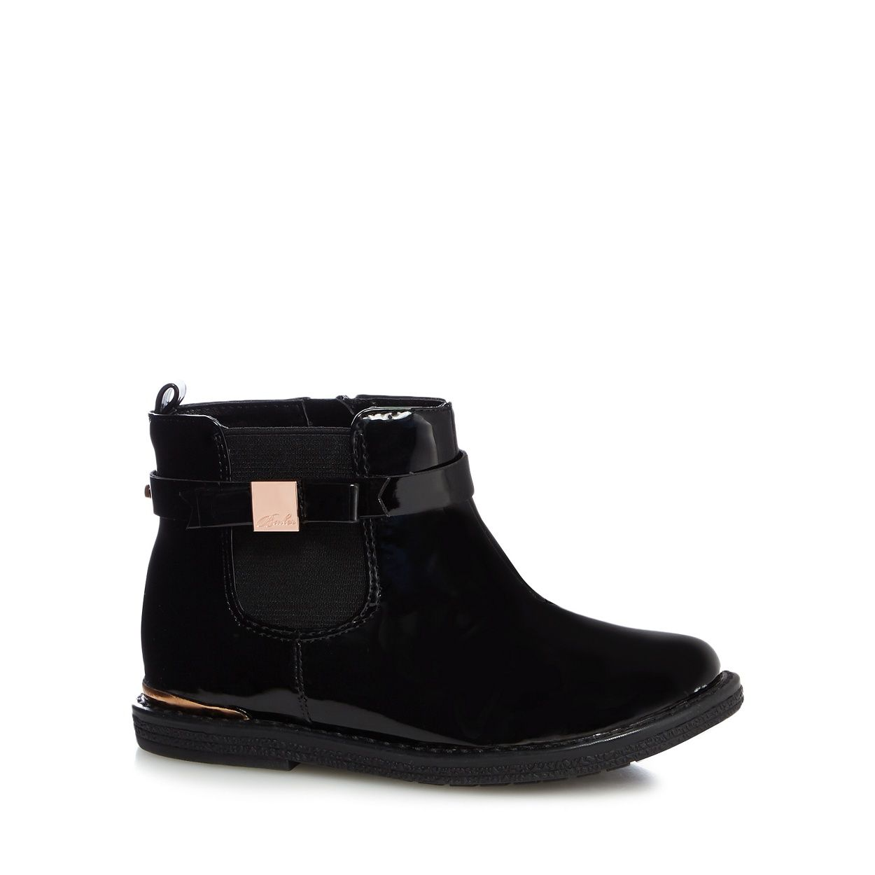 black patent ankle boots from Baker