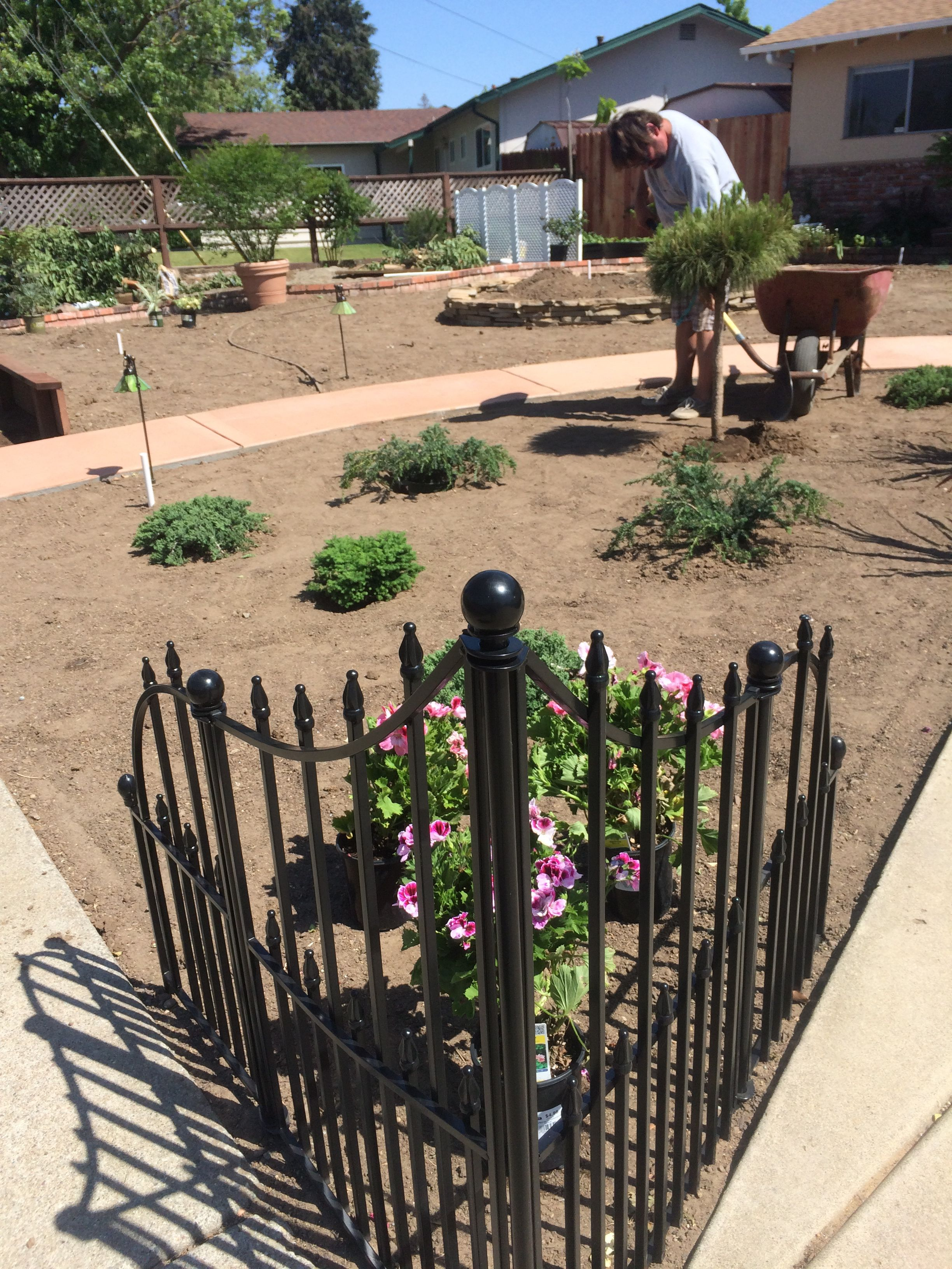 Black Wrought Iron Corner Fence. Love Frame
