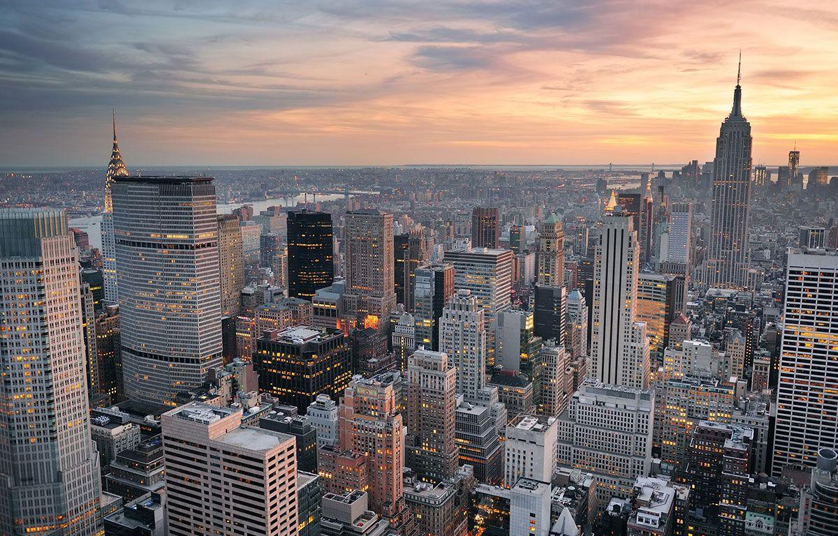 Обои buildings, downtown, skyscrapers, Sunset, сша, new york city. Города foto 12