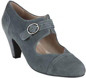 John Lewis Bazonette Buckled Mary Jane Shoes, Grey