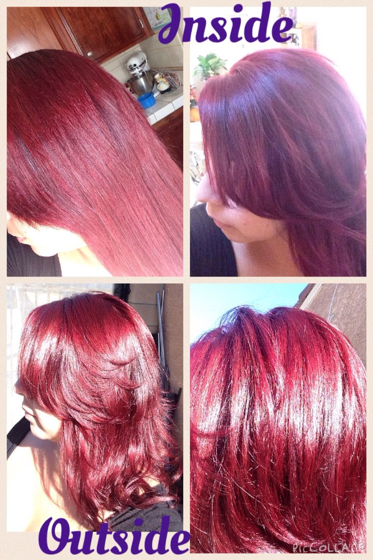 Intense Deep Red Hair I Love The Resultsi Used Ion 5rr And Pravana