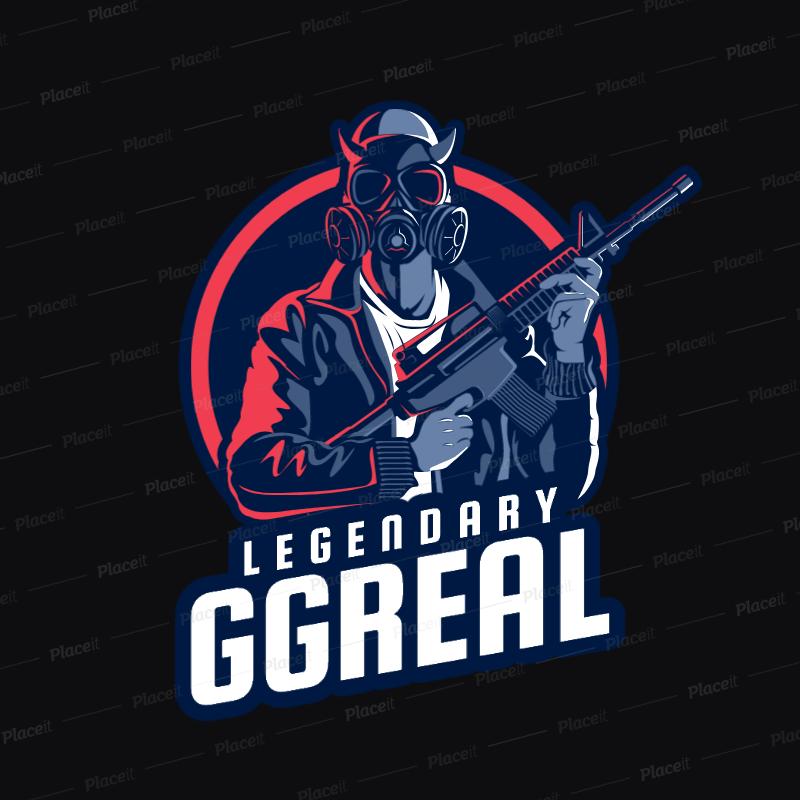 Placeit Battle Royale Logo Maker Featuring a PUBG