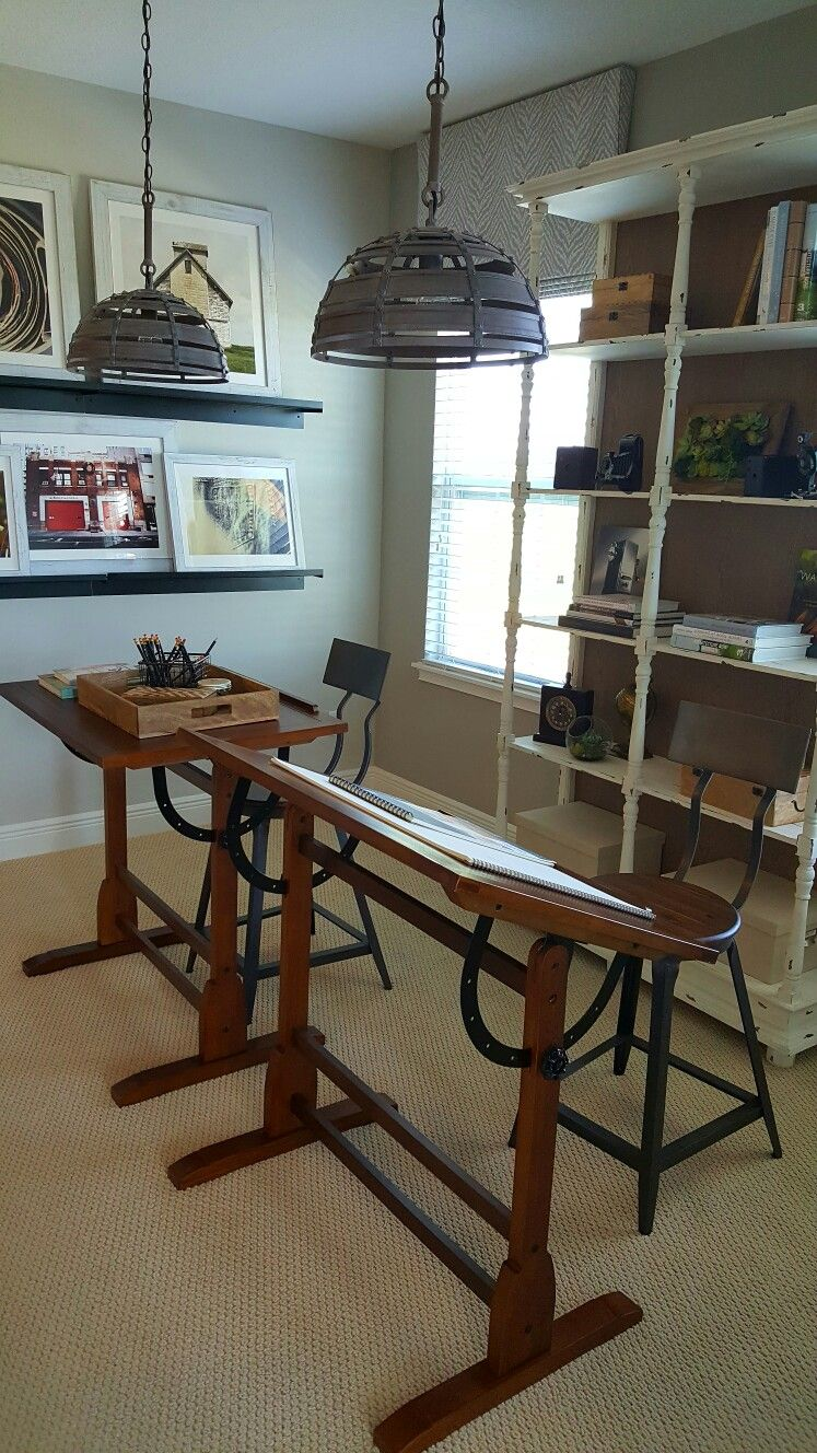 office in natural colors in shabby chic style hamlin reserve in