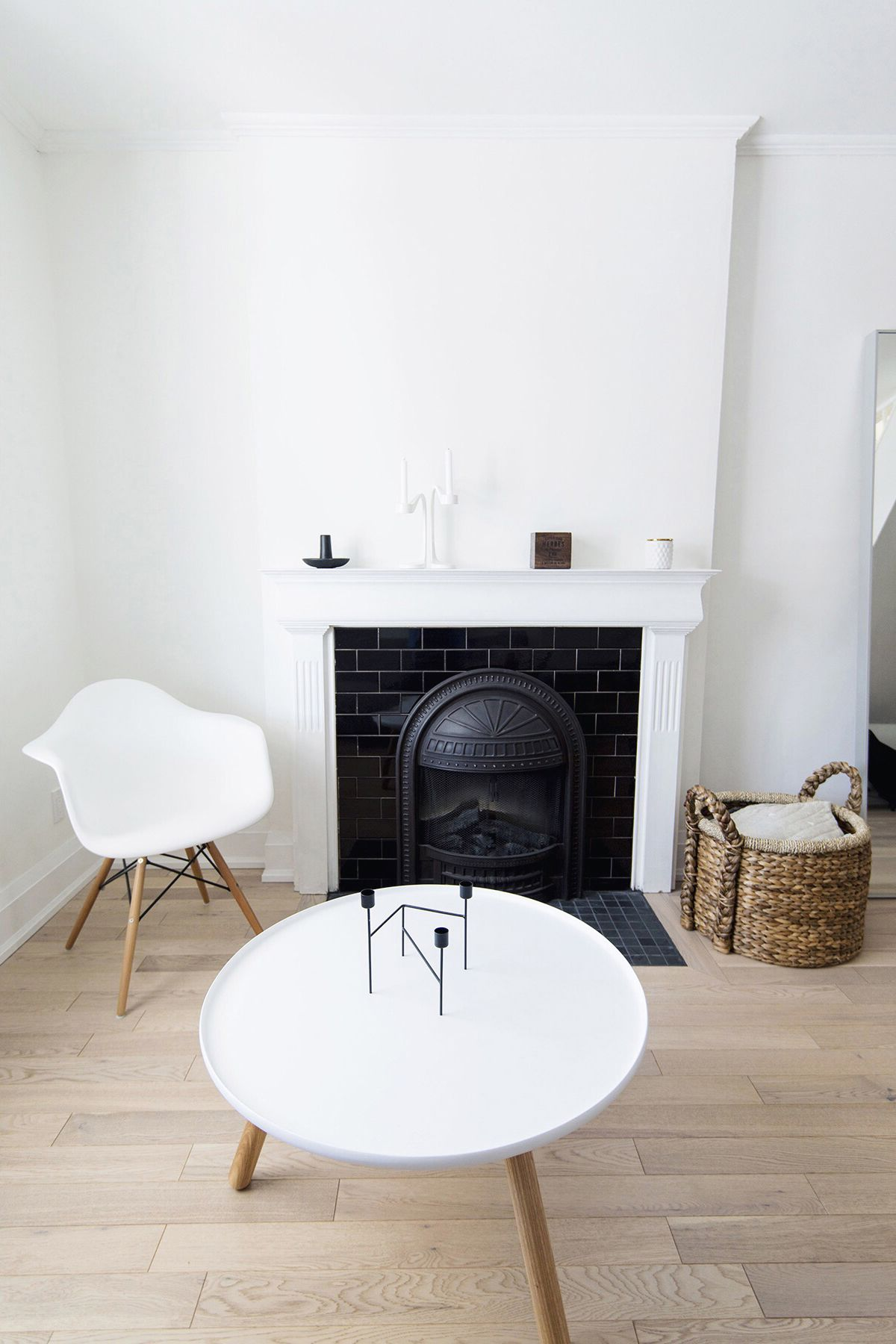 Scandinavian living room, Normann Copenhagen coffee table, Eames ...