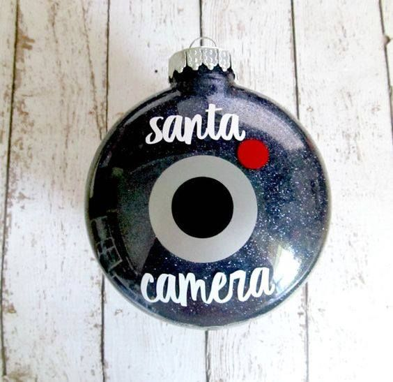 Santa Camera Ornament. I think my elf will bring this to our house this year
