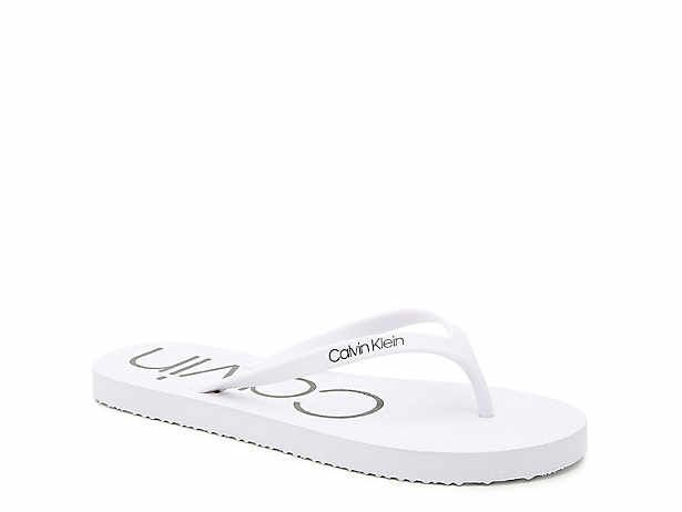 flat white sandals | DSW | White