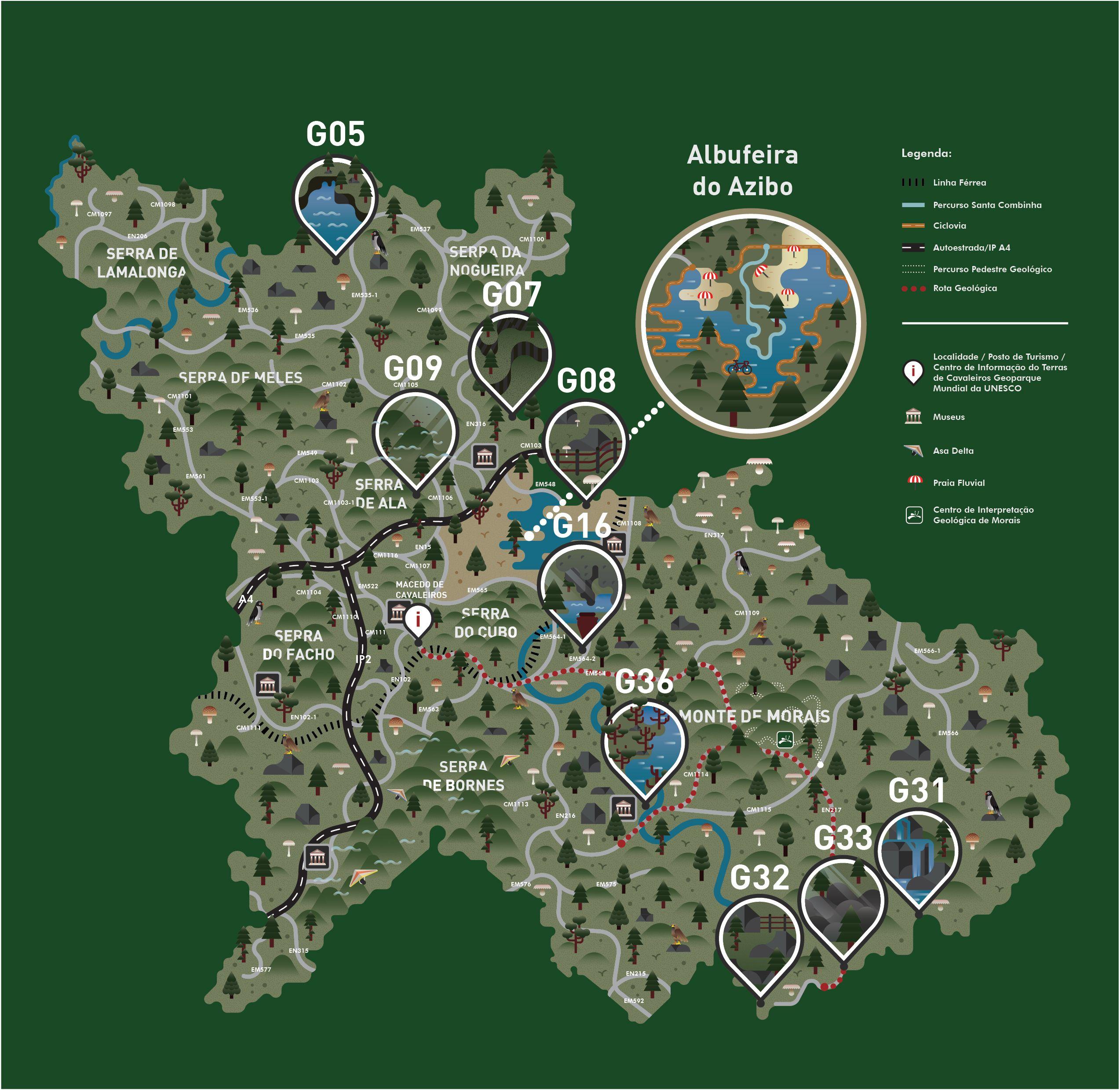 Mapa Geopark Macedo Cavaleiros Cavaleiro