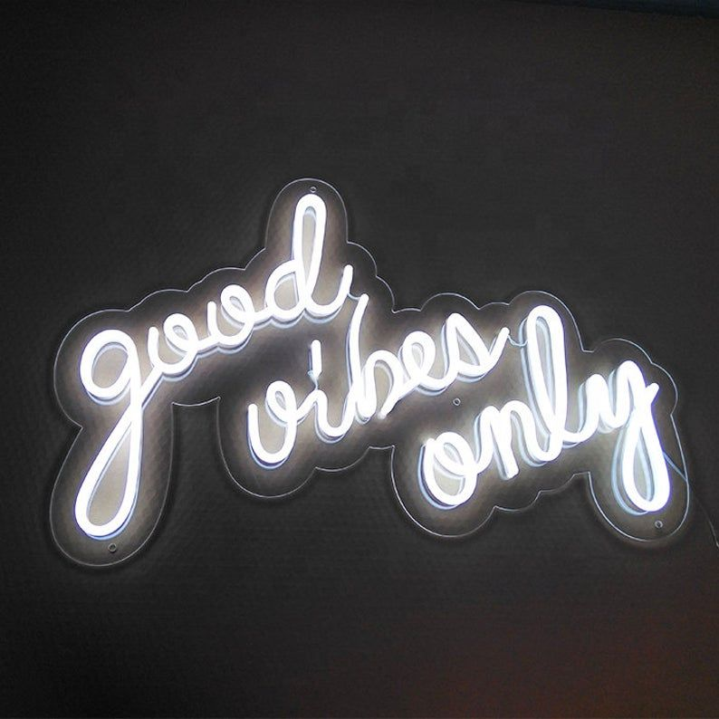 good vibes only neon sign, led neon sign, custom n