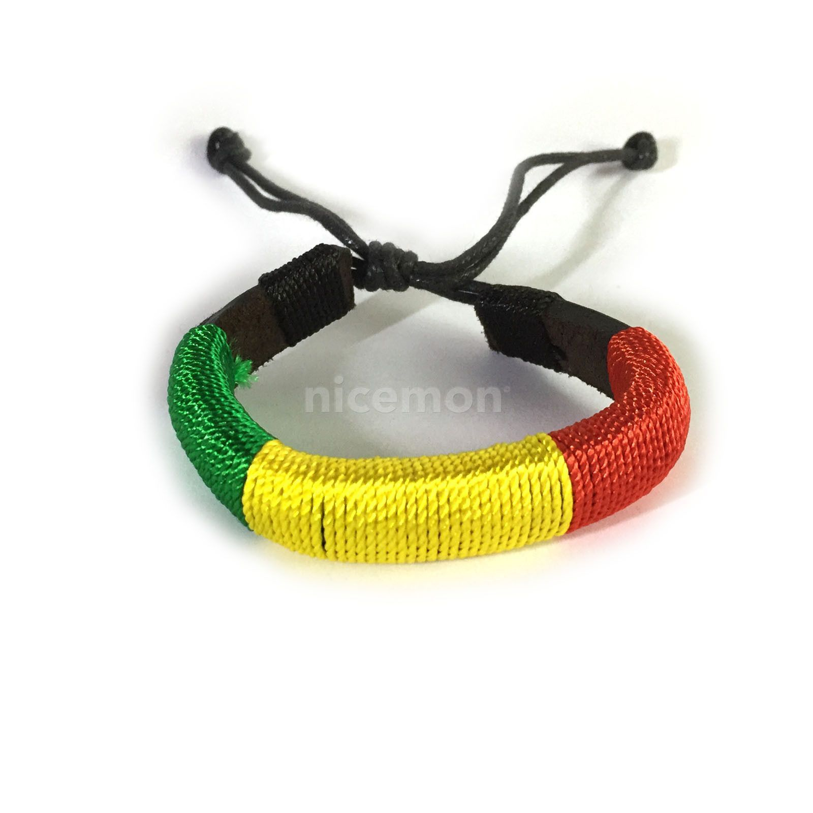 leather with and pin toggle corded multi colours macrame closing grey bracelet