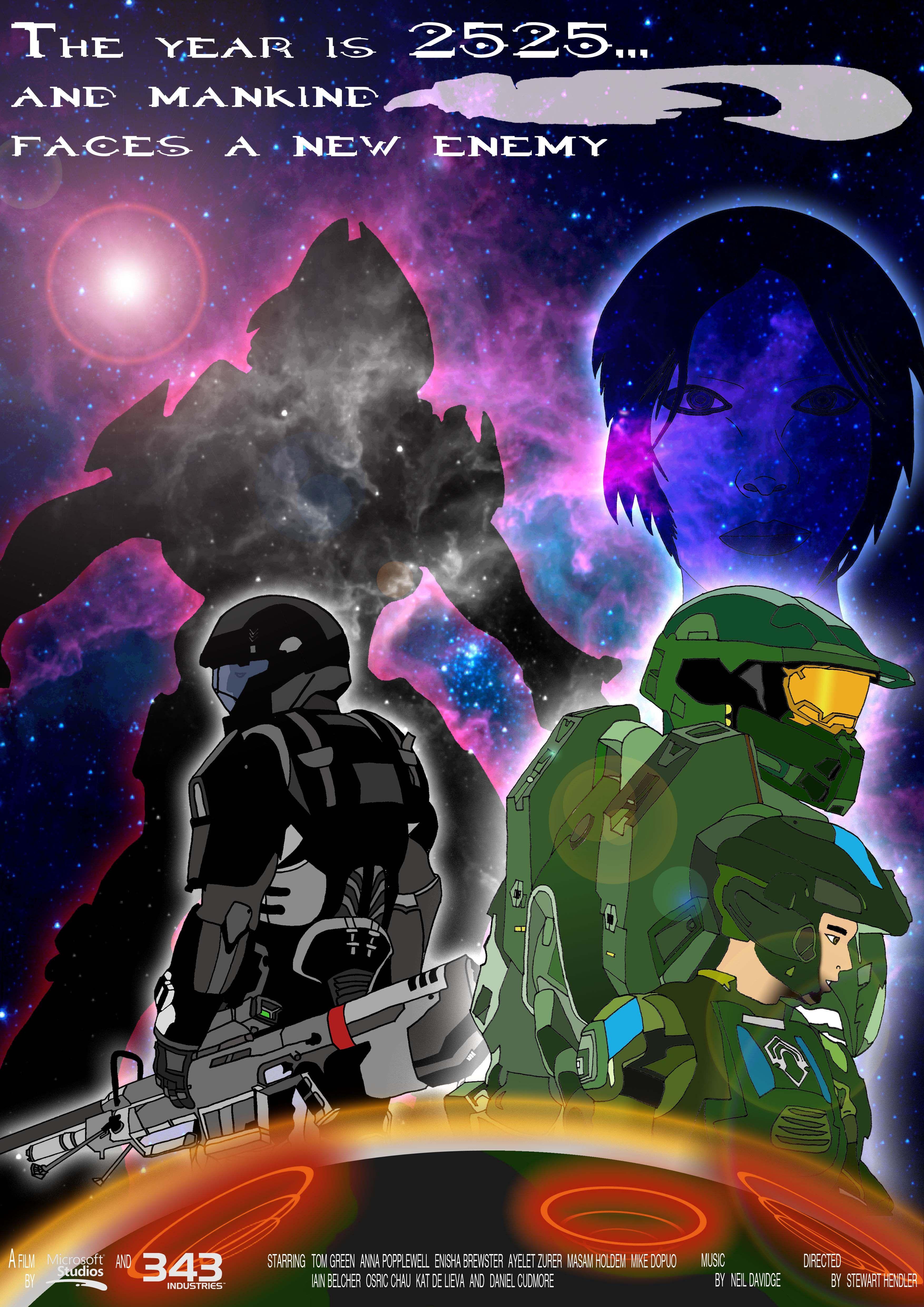 Halo: Forward Unto Dawn Poster (My final AS piece)