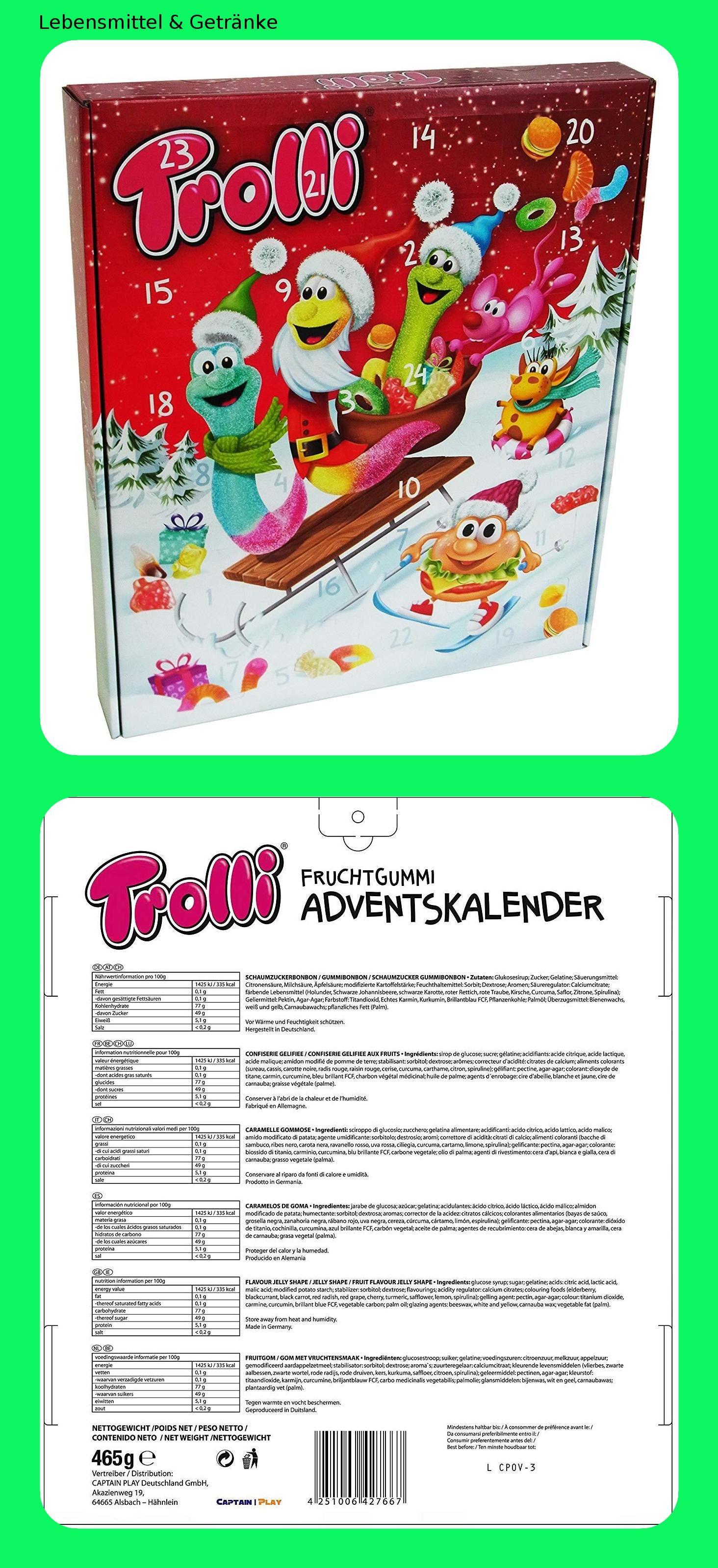 Trolli Adventskalender 1er Pack 1 x 465g