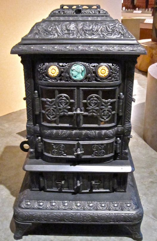Heating Stove Made In 1886 By The Sill Stove Works, Rochester, NY Of Cast