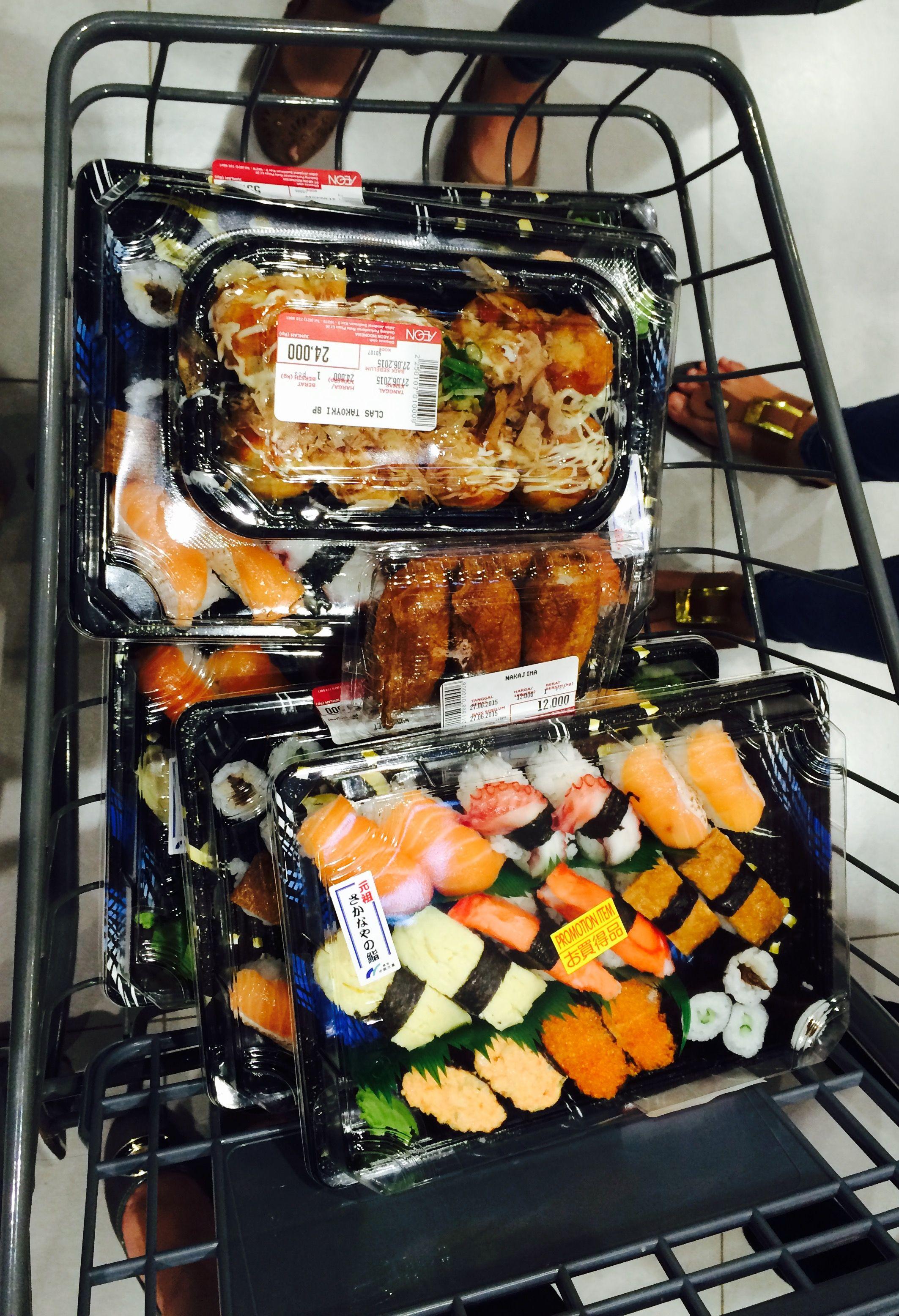Got the promo sushi from AEON Mall, BSD City sedikitkalap