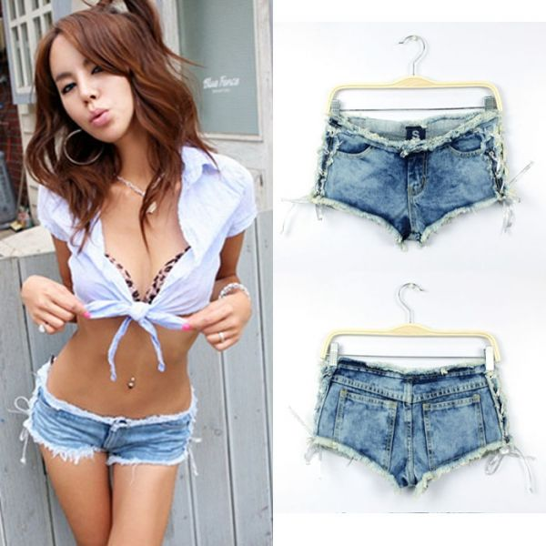 Low Waist Vintage Tassel Pockets Bandage Short Pants for wholesale denim|Wholesale Price USD $7.5 #wholesaledenim #womendenim By    www.clubwholesale.net