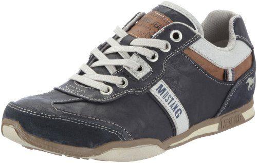 Mustang Sneaker 1090-302-824 Damen Schnürhalbschuhe, Blau (arktik 824), 7ff87e7f34
