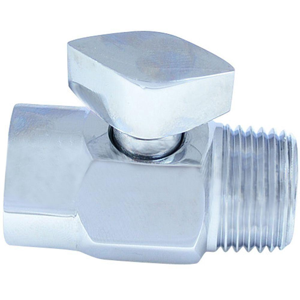 Partsmasterpro Temporary Shower Shut Off Valve Chrome Grey In