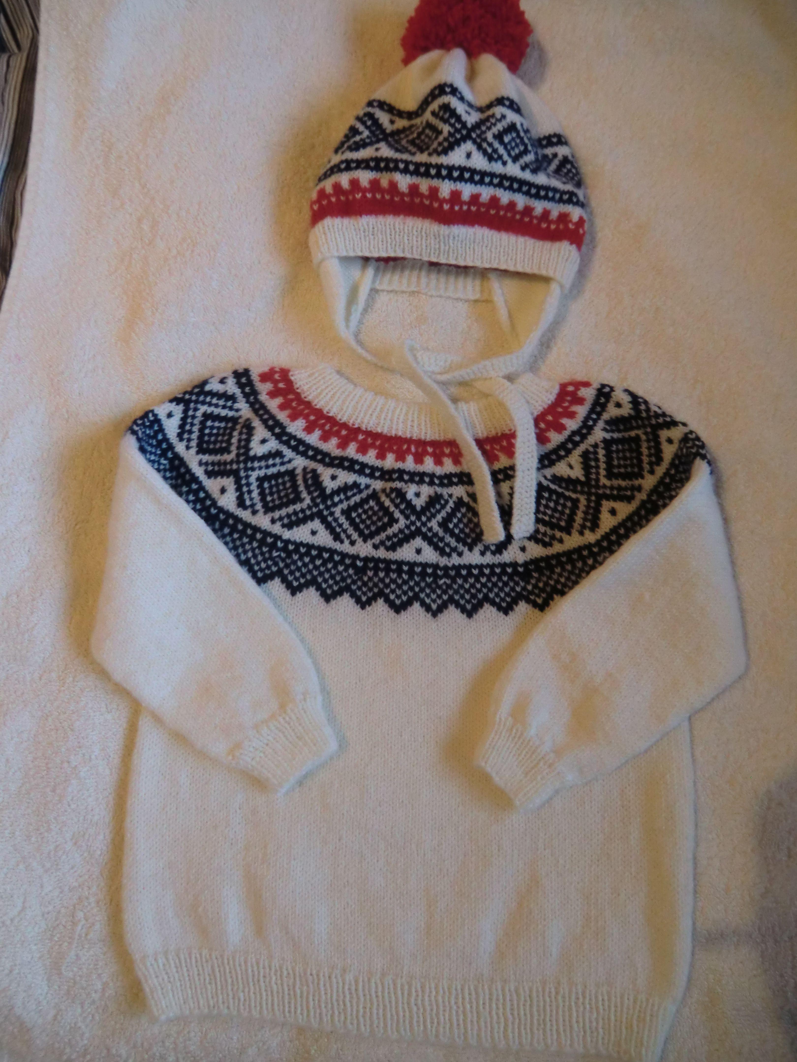 Handknitted Marius sweater size 1 year
