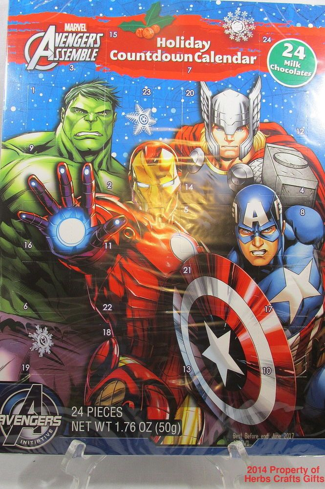 Advent Calendars Marvel Avengers Advent Holiday Countdown Calendar ...