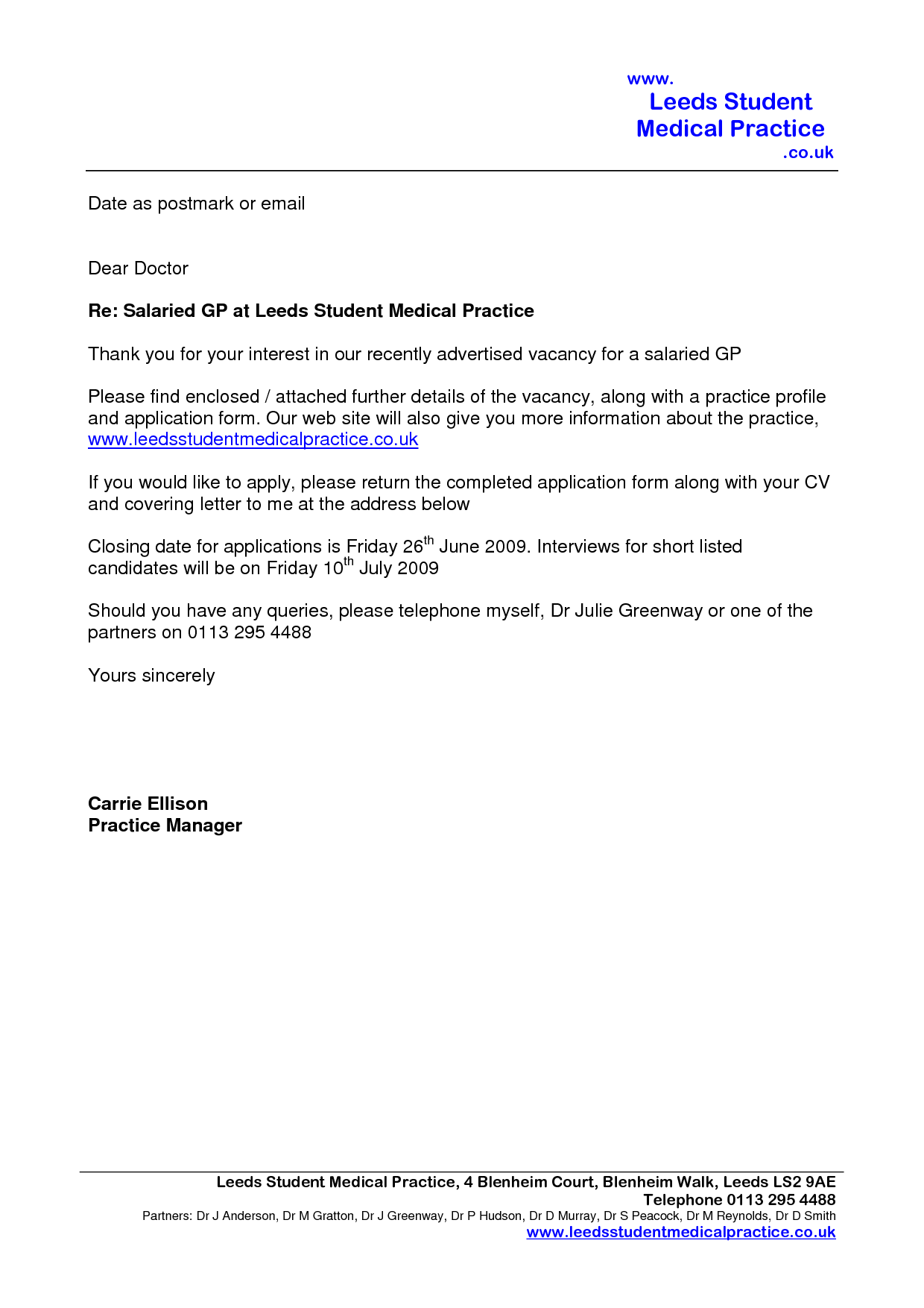 Cover Letter Email Template Uk - Online Cover Letter Library