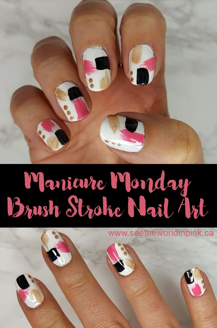 Manicure Monday Abstract Brush Stroke Nail Art Nail Art By